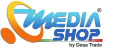media shop store logo